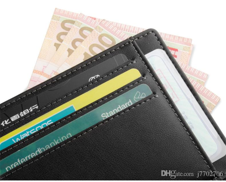 Titular do Cartão de Crédito de Couro genuíno Carteira de Licença de Carteira de Alta Qualidade id Cartão de Caso para Viagens 2017 Novos Homens de Negócios Cartão Magro Suave