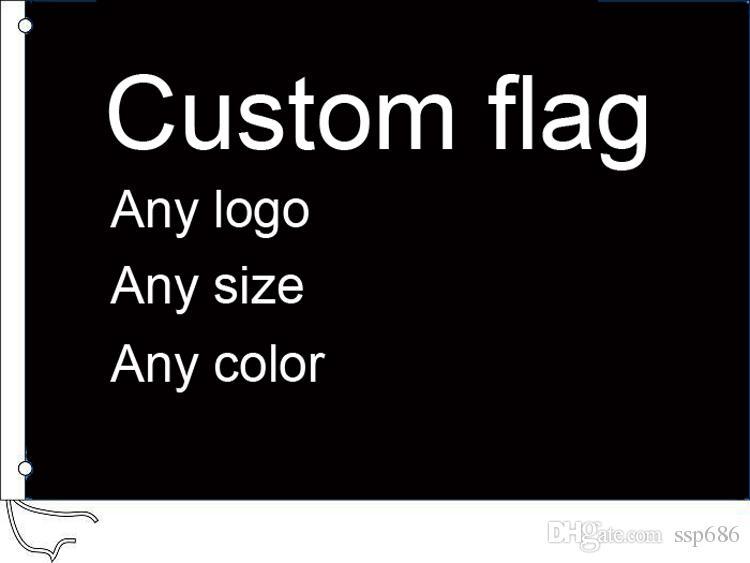 Изготовленный на заказ флаг любой Логос цвета размера 3x5 FT изготовленный на заказ Знамя 90x150cm флаги рекламы компании