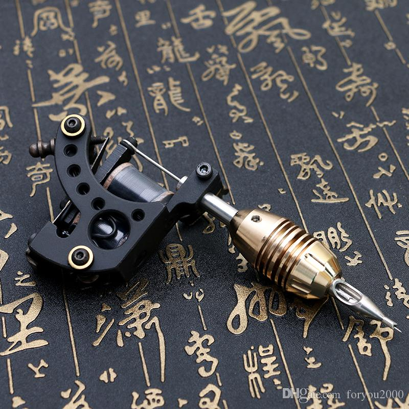High Quality Shader Machine 12 Wrap Coils Cast Iron Frame Tattoo Guns Tattoo Power Supply TM461