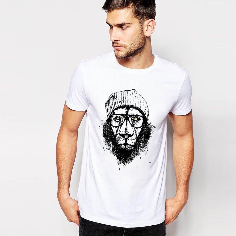 Men T Shirt Summer Print Lions Unique Streetwear Marcelo Tee O ...