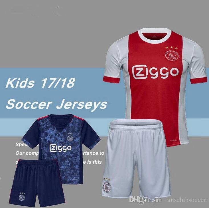 2018 Top Quality 2017 2018 Ajax Fc Soccer Jerseys Best Kids Boys Kits 17 18  Camisa Ziyech Kluivert Nouri Dolberg Younes Jerseys Football Shirts From ... 5fd586f0e