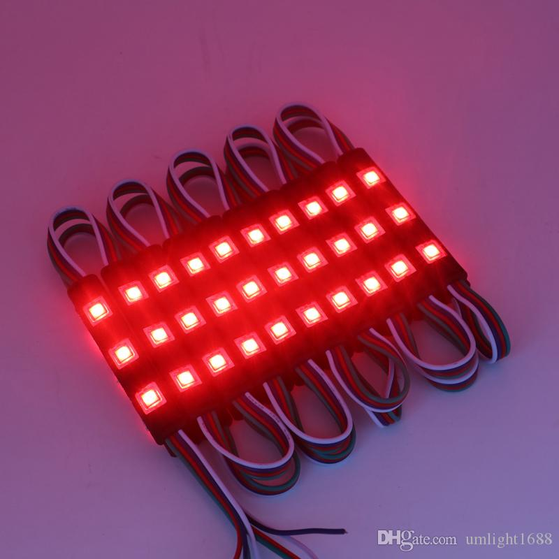 Schwarz PCB NEU 5050 SMD 3LEDS RGB Injection LED-Module mit Objektiv DC 12V Wasserdicht IP67 Werbung Licht