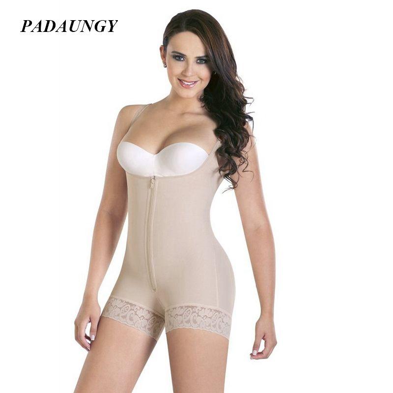 5631c0536e439 Wholesale- PADAUNGY Body Shaper Women Bodysuits Push Up Shapewear ...