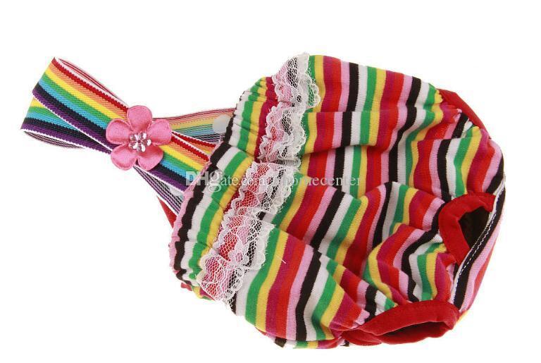 Pet Physiological Pants Female Pet Dog Puppy Sanitary Cute Short Panty Diaper Safety trousers Stripe Underwear PD037