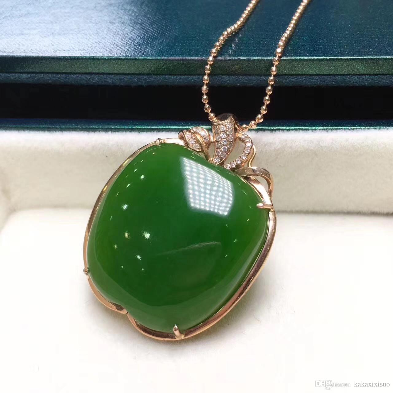Wholesale you are my little apple 18k gold apple pendant fine wholesale you are my little apple 18k gold apple pendant fine green inlaid south africa really drill long necklaces fine jewelry from kakaxixisuo aloadofball Images