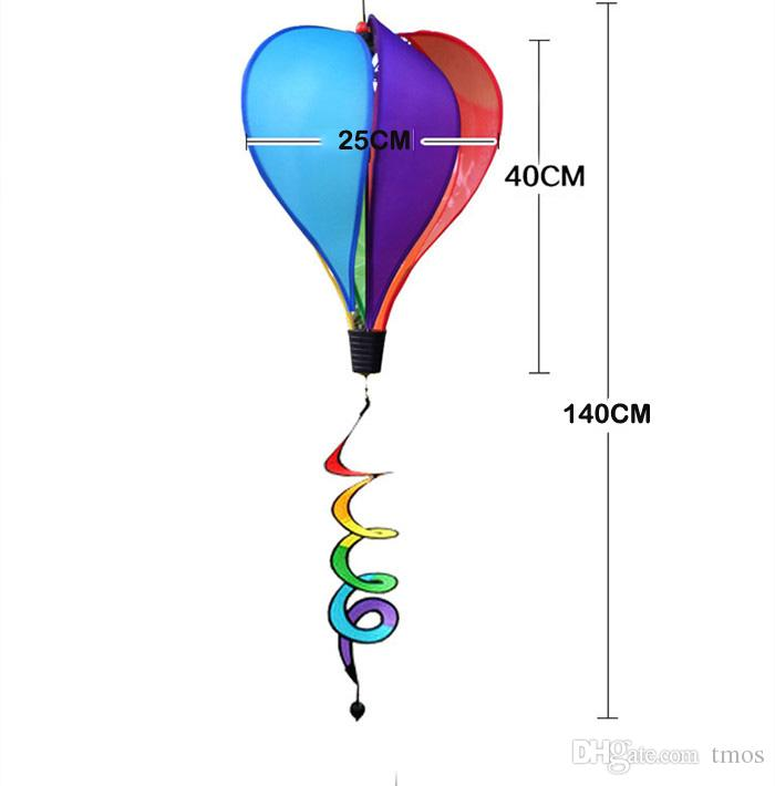 New Foldable Rainbow Spiral Windmill Colorful Garden Wind Spinner Camping Tent Home Garden Decoration Decor