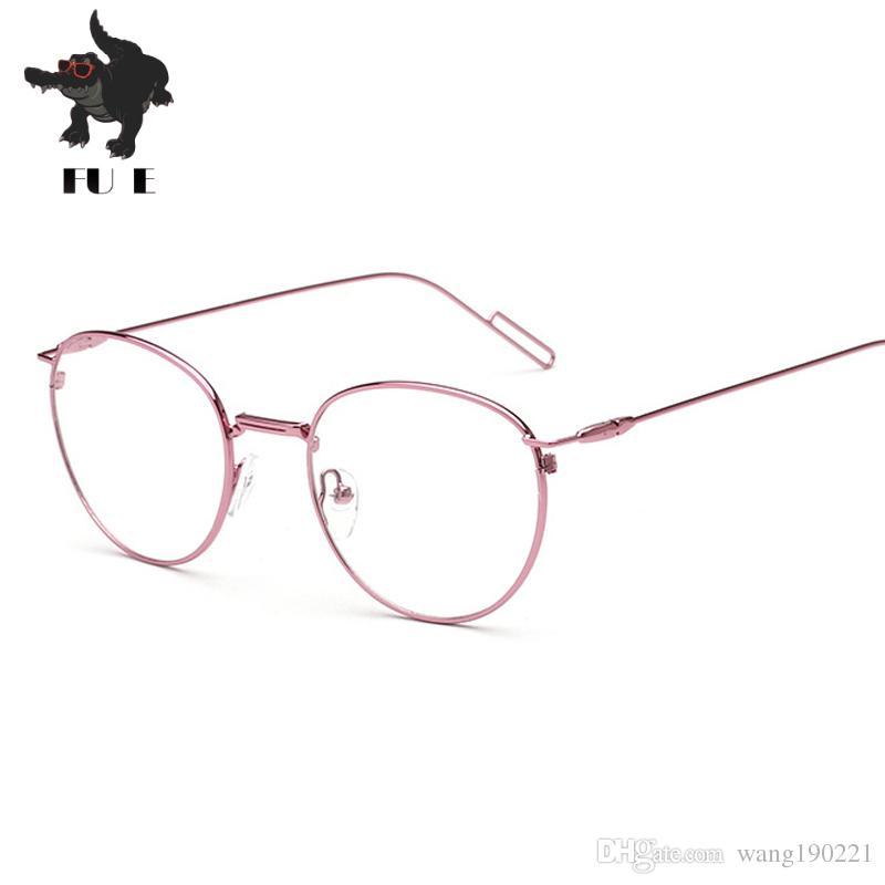 b390866acd 2017 Men Women Round Retro Metal Frame Eyeglass Vintage Lens Glasses Male  Female Circle Plain Mirror Optical Eyeglasses Frames UV400 RA102 Sport  Sunglasses ...