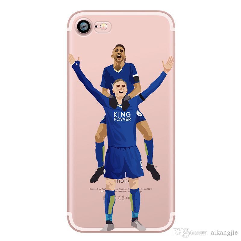 Fashion Transparent Football Stars cristiano Ronaldo messi For IPhone 5 5S SE 6S Plus 7 Phone Case Ultra slim silicone Tpu Phone Cover