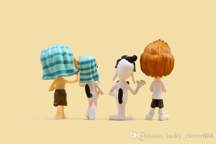Lote de Mr. Peabody Sherman Filme PVC Mini Action Figure definir Cartoon Doll estatuetas playset Cup Toy Bolo Topper crianças de desktop presente