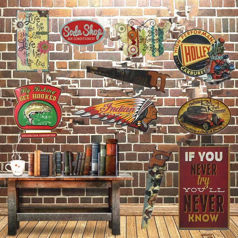 wholesale indian motorcycle metal signs chainsaw saw. Black Bedroom Furniture Sets. Home Design Ideas