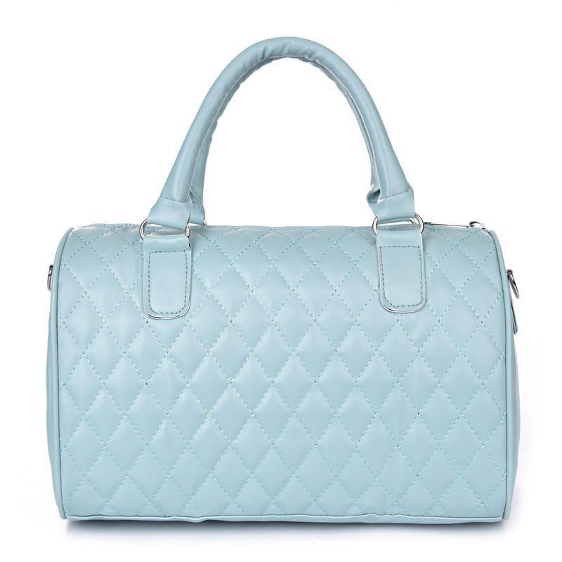 Top Quality Women's Motorcycle Shoulder Bags Handbags Girl's Casual Diamond LatticeTotes Bags Female PU Leather Handbags Crossbody Bags