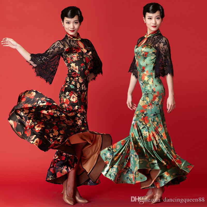 Standard Dance Dress Ballroom Dress Woman Foxtrot China Waltz ... 29ed0ca76