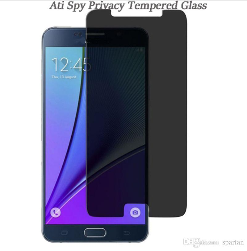 Privacy Tempered Glass For iPhone 12 11 pro Xs max 8 7 6 Plus 9H 0.33mm Anti-Spy Screen Protector for Samsung Note 5 S7