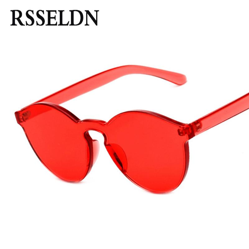 2ca0e0c5c7 Wholesale RSSELDN New One Piece Lens Sunglasses Women Transparent Plastic Glasses  Men Style Sun Glasses Clear Candy Color Brand Designer Smith Sunglasses ...
