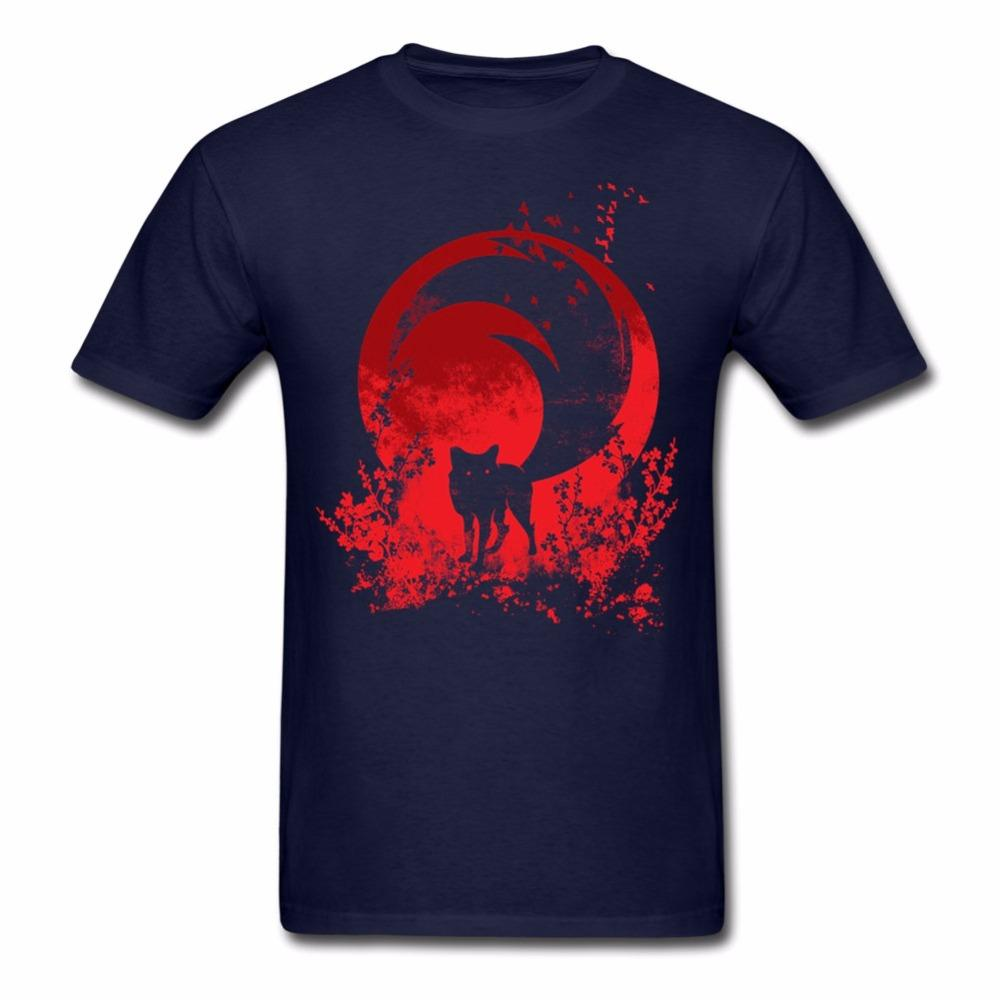 0ecd4e776c65 Men s Red Tail Tee Shirts Cheap Short Sleeve Novelty T Shirt New ...