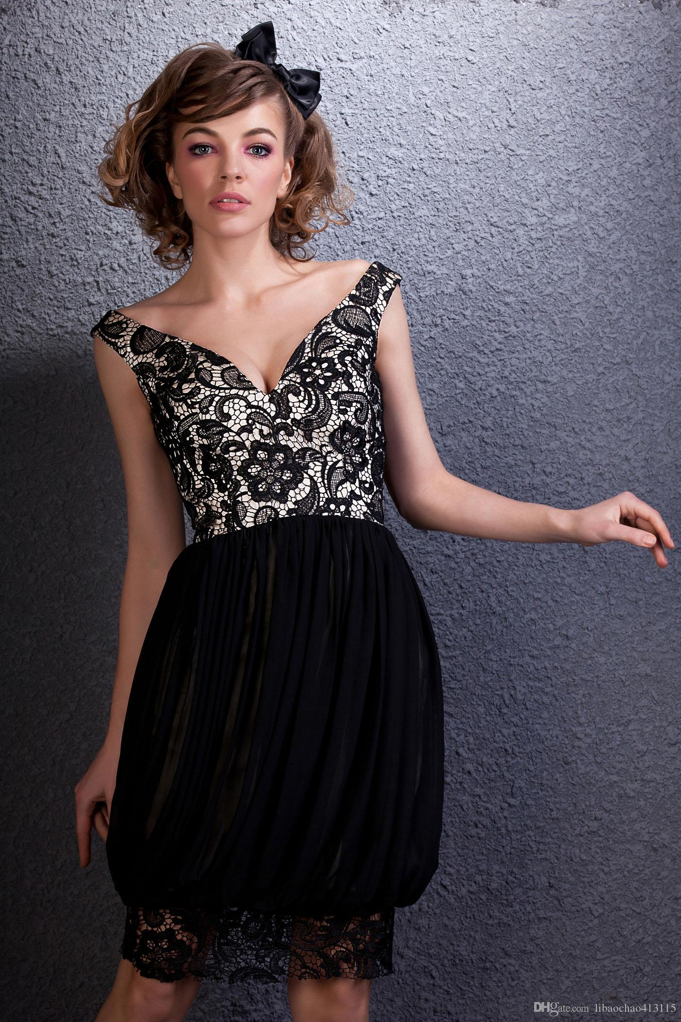 cb48f34700d6 New Designer A Line Fashionable Off Shoulder Black Lace Homecoming Dress  Popular Bridesmaid Evening Dress Bridal Party Dress Prom Gown Work Christmas  Party ...