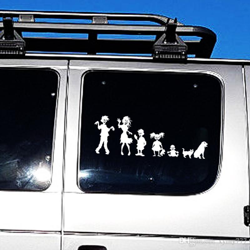 Hot Sale Car unsoggiorno Zombie Famiglia Vinyl grafica decalcomanie Funnyl Adesivo auto unsoggiorno creativi Adesivi