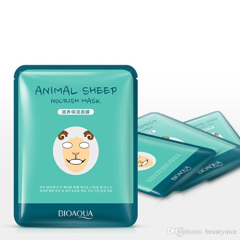 Hot Sale BIOAQUA Tiger Panda Sheep Dog Shape Animal Face Mask Moisturizing Oil Control Hydrating Nourishing Facial Masks