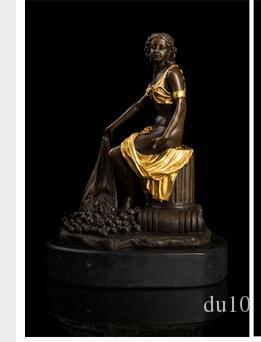 2018 High End Decoration Bronze Sculpture Semi Nude Girl Statue Sitting  With Fruits Garden Statues Figurine En Bronze From Du10, $331.66 |  Dhgate.Com