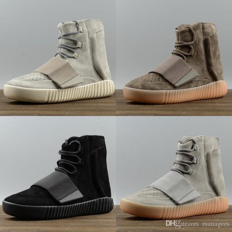 9cbeb26885dd 2019 Discount New Cheap 750 Glow In The Dark Brown Kanye West Leather Ankle  Boots Men S Sport Running Shoes Discount Sneakers Basketball Shoes From  Managers ...
