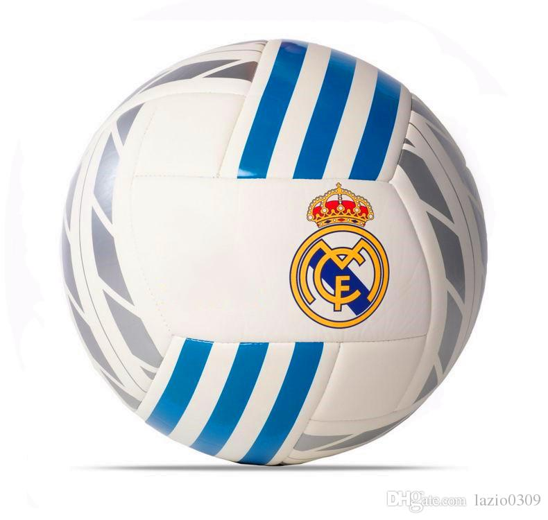 Best 2017 genuine europe champions league real madrid football white best 2017 genuine europe champions league real madrid football white logo badge polygon stitching soccer ball bq1397 size 5 under 382 dhgate voltagebd Choice Image