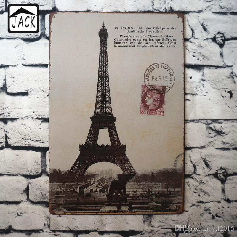 2019 Eiffel Tower 20x30cm Retro Poster Metal Tin Signs Tin Plaque