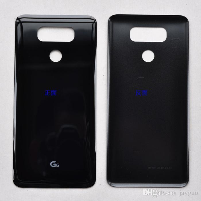Pour LG G6 H870 H871 H872 H873 LS993 Arrière Couvercle De La Batterie Porte Panneau Arrière Boîtier En Verre Avec Autocollant Adhésif
