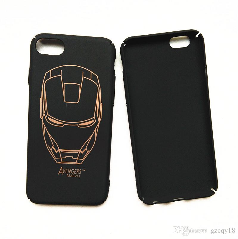 For IPhone 8 7 Case 3D Super Hero Iron Man Full Protective Cover ...