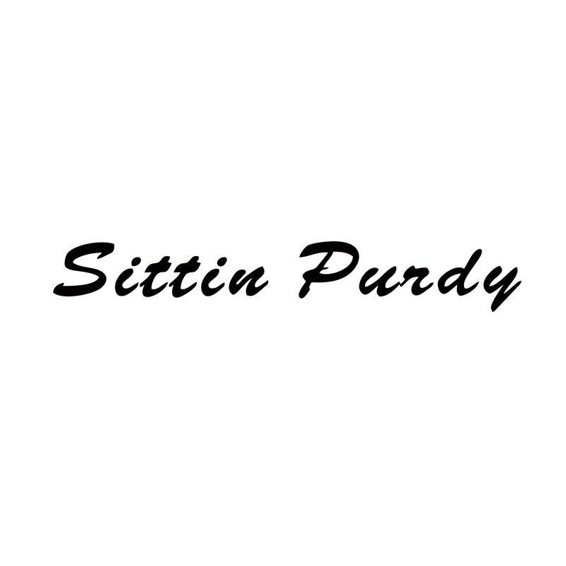 Sittin Purdy Windshield Banner Car Styling Sticker Truck Decal Diesel Lift Vinyl Decal Car Window Jdm