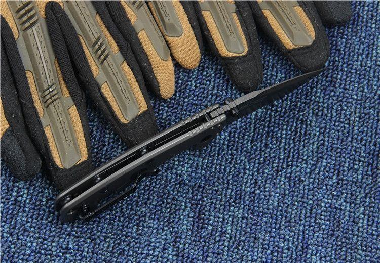 Kershaw 1555TI Titanium Tactical Faca Dobrável Hinderer Design Flipper Camping Caça Sobrevivência Bolso Faca 8Cr13Mov Utility EDC Collection