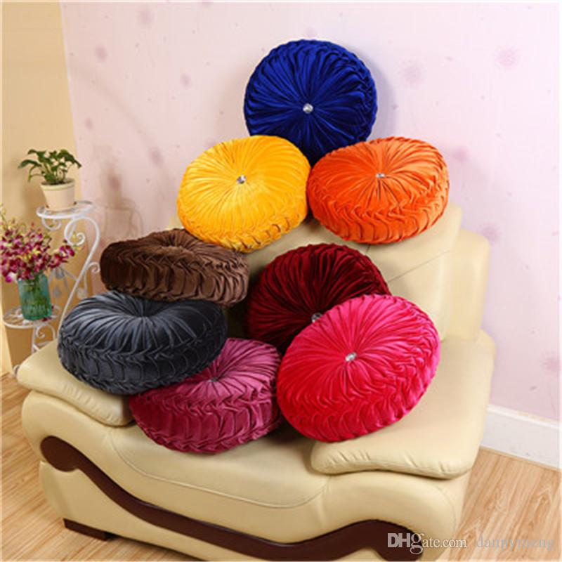 Soft Plush Round Chair Cushion Seat Pad For Patio Home Car Office Floor Pillow With Insert Filling Pp Cotton Futon Cushions Lawn Furniture Cushions Buy