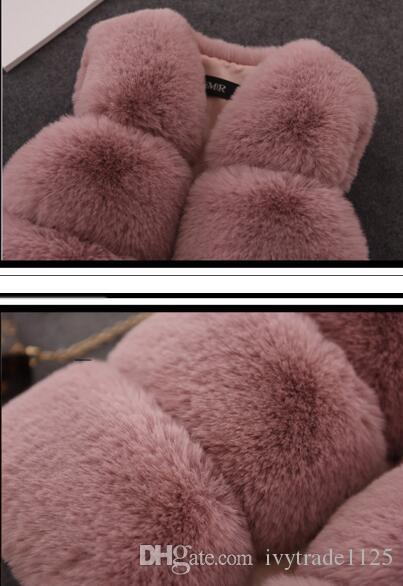 Dzieci Dziewczyna Zima Ciepła Kamizelka Dziewczyna Futro Kamizelka Płaszcz Zima Dzieci Znosić Baby Dzieci Dziewczyna Kurtka Kamizelka 5 Kolor Rozmiar 70-160cm