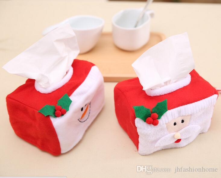 Rote Weihnachtsschneemann-Weihnachtsmann-Gesichtstuchfässer Weihnachten verzieren Familienhotel Restaurant benutzte Festivalversorgungen