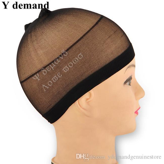 unisexe élastique perruque de cheveux perruque Net Caps Liner Hairnet Snood en nylon extensible à la demande Mesh Y
