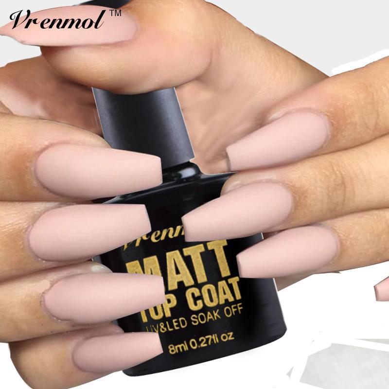 Wholesale Vrenmol Matt Top Coat Transparent Color UV Gel Nail Polish ...