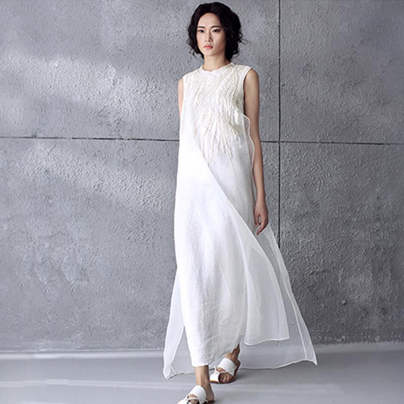 Geliebte Großhandel 2017 Frauen Kleid Plus Größe Xl Leinen Baumwolle  RY37