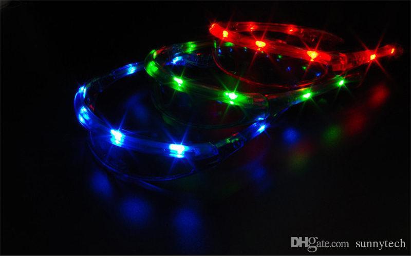 Mignon LED Clignotant Espace Lunettes Lunettes Lumineuses Mascarades Props Enfants Jouets Lumineux De Mariage Glow Party Supplies F20171470