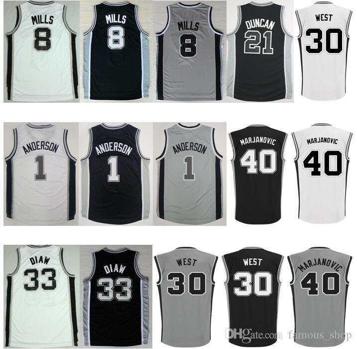 ... San Antonio Spurs 33 Boris Diaw Swingman White Home Finals Patch NBA  Jersey 2016 Basketball 40 Boban Marjanovic Jersey Printed 33 Boris Diaw 1  Kyle ... 2b798217b