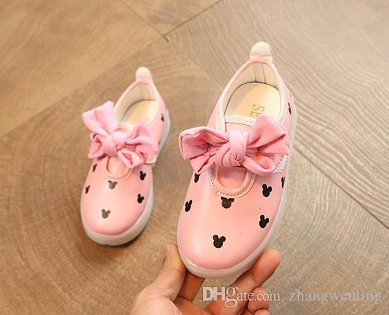 Işık Led Enfant Ile yeni Çocuk Ayakkabı Sneaker Kız Tenis Spor Nefes BoysTrainerYezi Işık Bebek Ayakkabıları Çocuklar