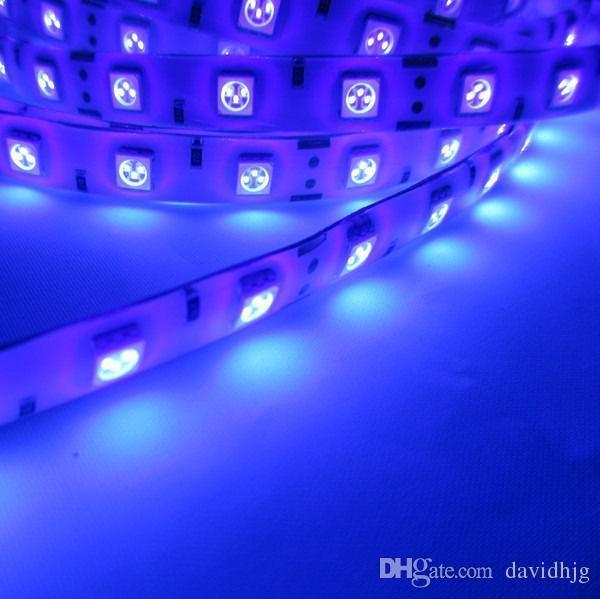 uv ultra violet new 5m 5050 395 405nm 300 60 leds m led strip light waterproof 12v 5a 12v led. Black Bedroom Furniture Sets. Home Design Ideas