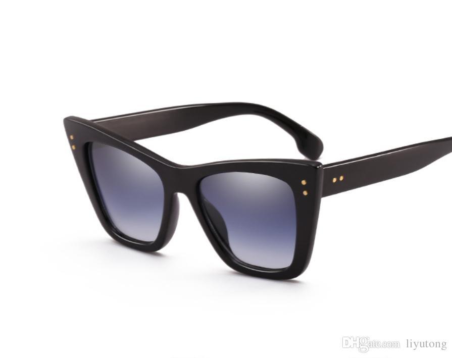 c1d287645 Moyssen Popular Fashion Women Brand Designer Rivets Cat Glasses ...