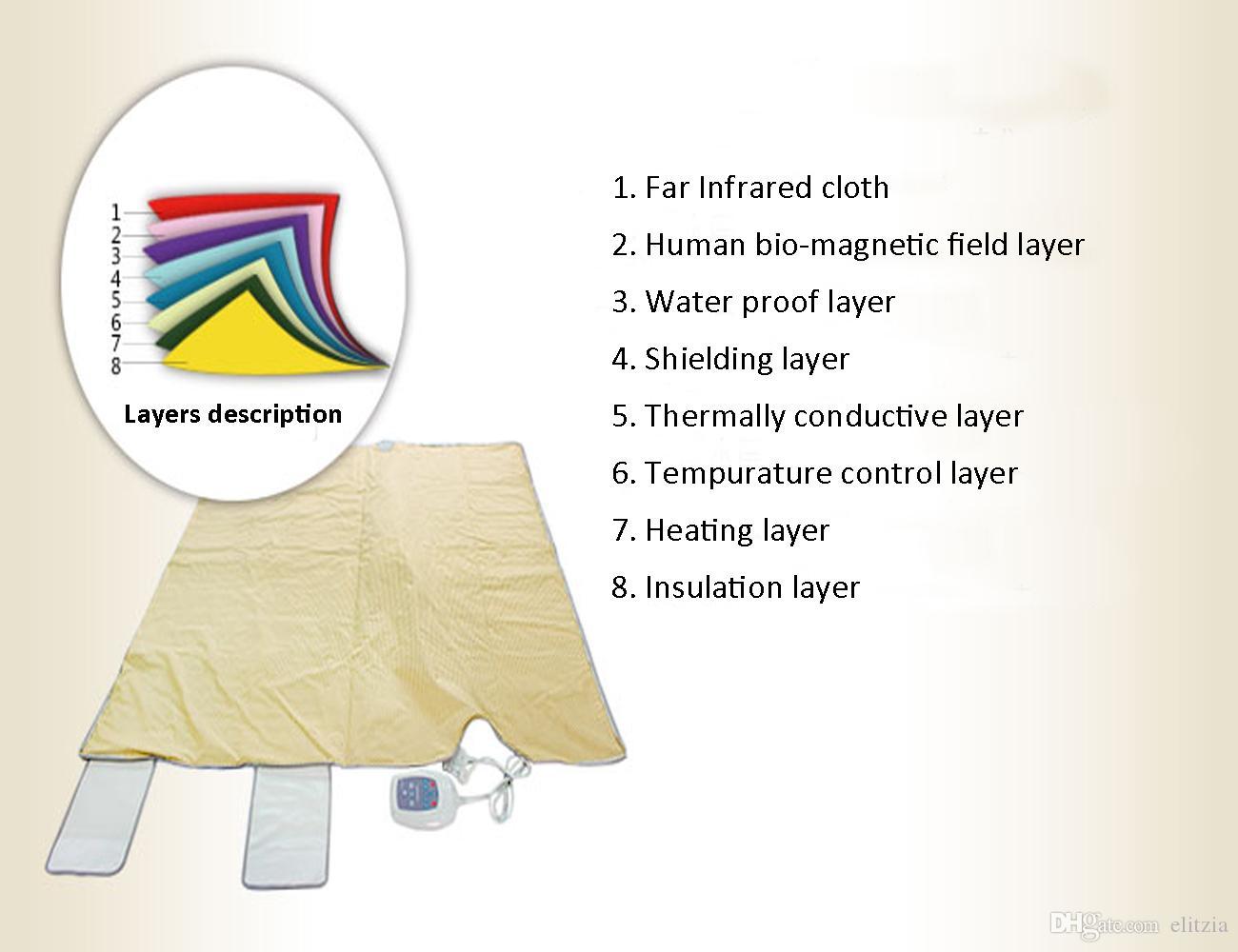 Elitzia ETD0701 FIR Тепловое Дальний инфракрасный обогрев Сауна Одеяло для похудения Потоотделение Shaping