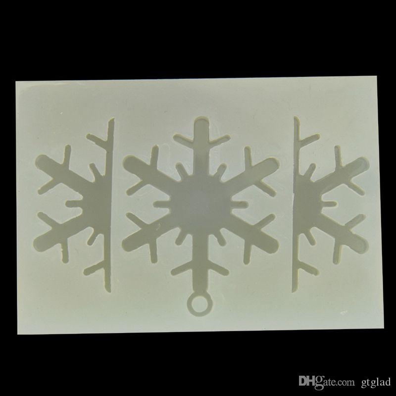 New DIY Handmade snowflake Mold Epoxy Silicone Mould Epoxy Resin Jewelry Making Craft Tools 5.5*5cm