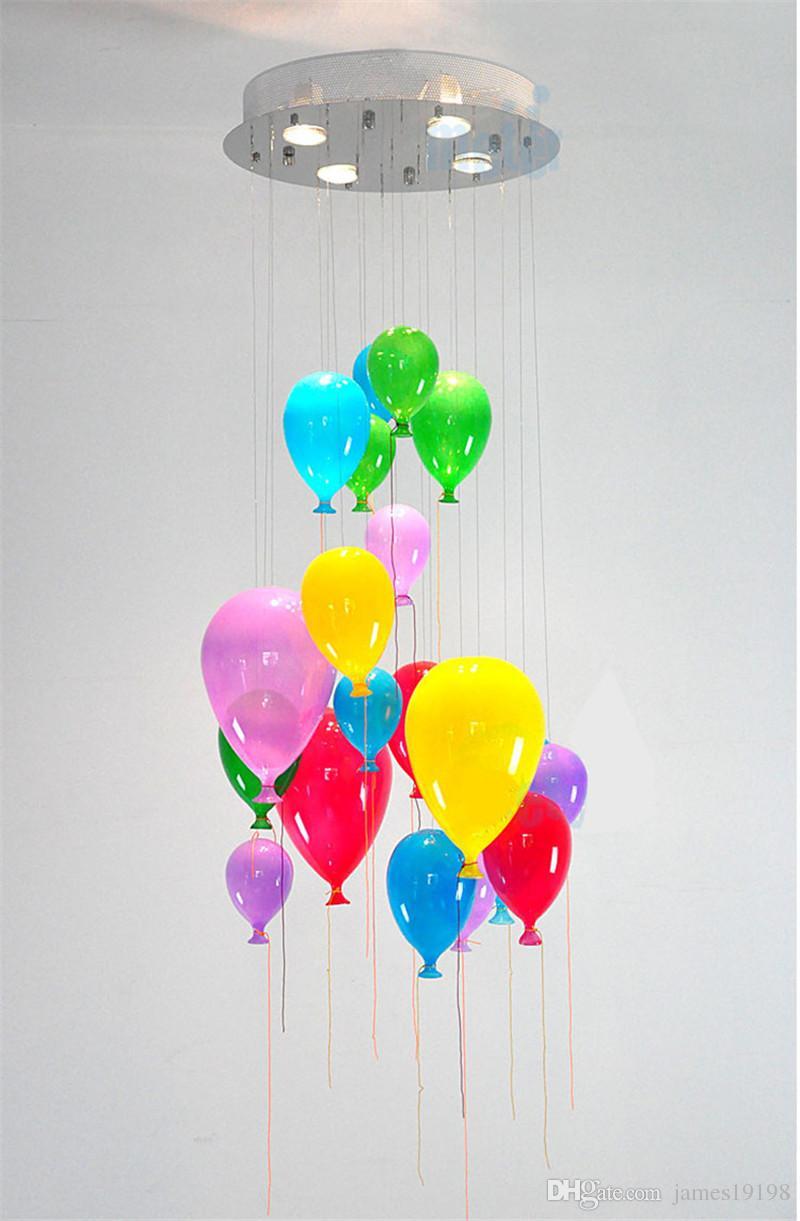 lampada a sospensione moderna personalizzato multicolore Vetro Balloon la camera dei bambini palloncino colorato il capretto rrom CA011