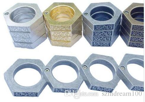 Knuckle duster belt buckle F-S THICK CHROMED Foldable KIRSITE BRASS KNUCKLES DUSTERS Boxing Protective Gear