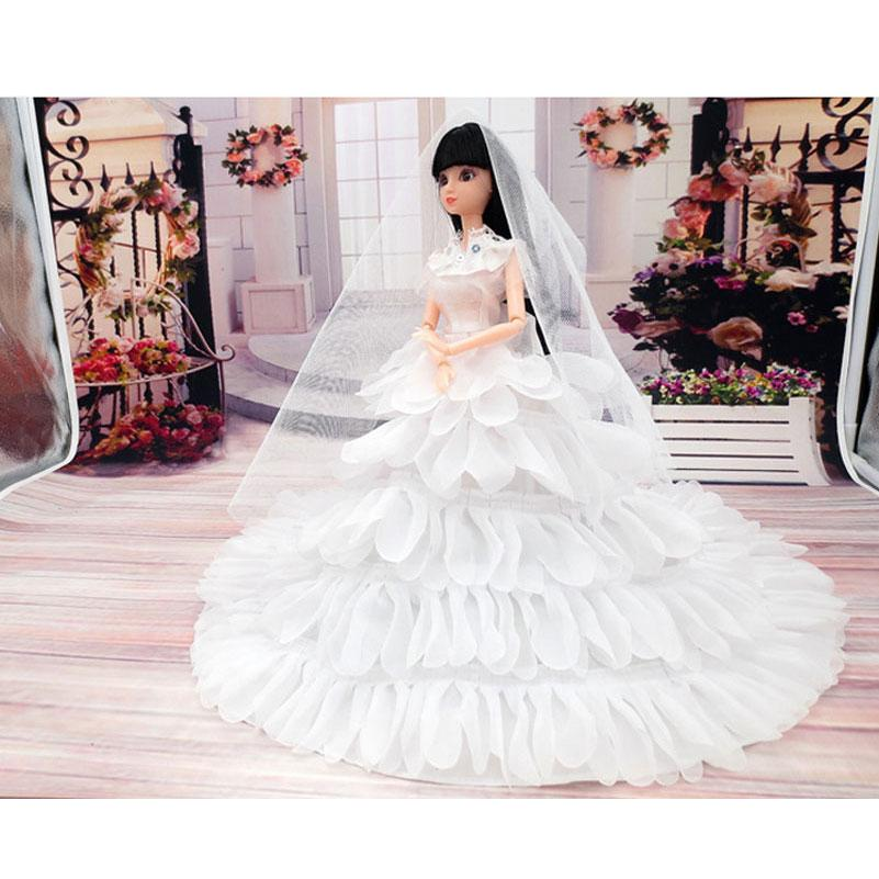 Fashion Toy Doll Clothes Princess Evening Party Wedding Dress ... 637ad1d00ea5