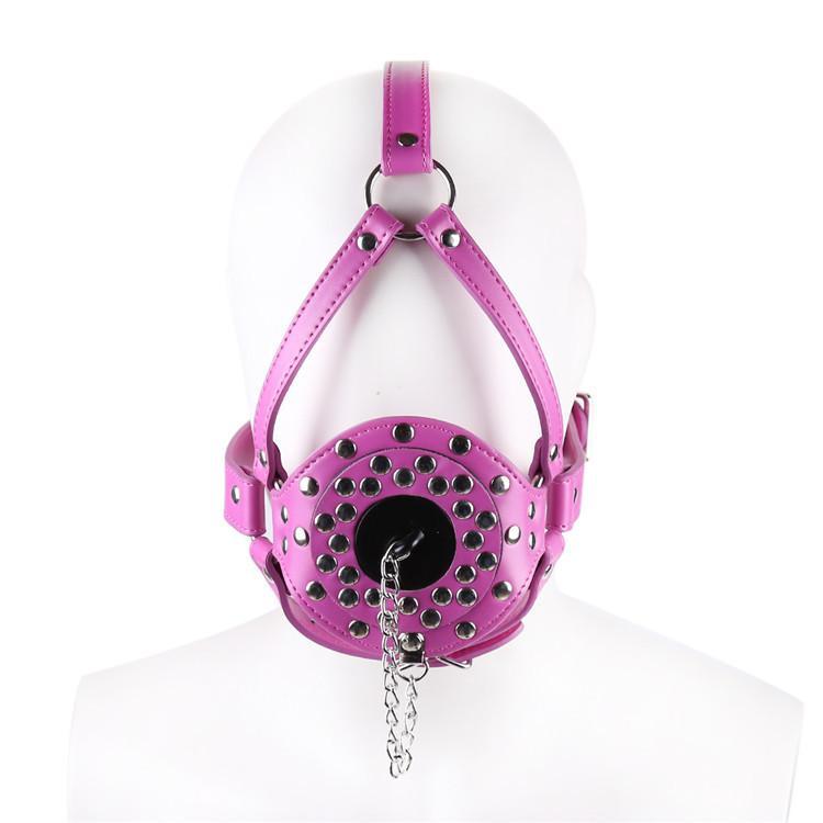 Femmina Harness Gag Apra bocca Bite Anello Gag Stopper w / Cover Sex Slave Bondage Grande BDSM Adult Game Gear