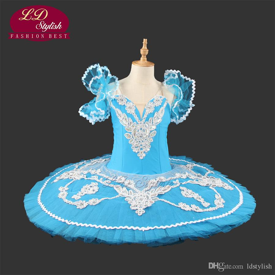 8029b75eb5bd1 2019 Hot Sale Blue Bird Professional Tutu Nutcracker Ballet Costume Girls  Pancake Classical YAGP Competition Tutu LD0005 From Ldstylish, $150.76 |  DHgate.