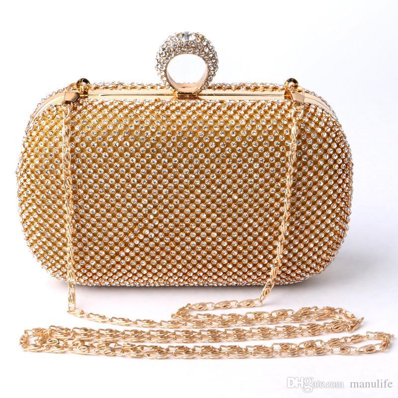 Compre 2016 Bolsa De Noche Con Marco De Diamantes Tachonados Con Un ...