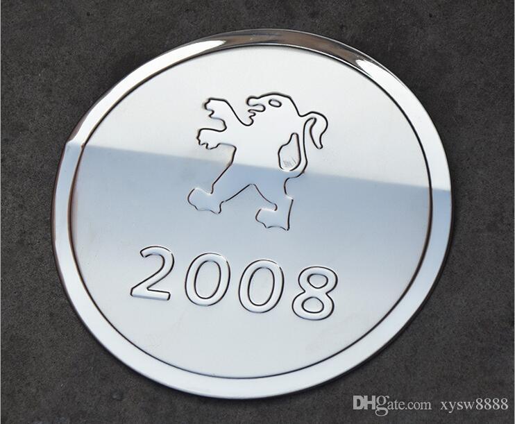 Para 2013-2015 Peugeot 3008 cubierta del tanque de combustible especial modificado Peugeot 308 308S 2008 3008 cubierta del tanque de acero inoxidable del coche Decoración del coche